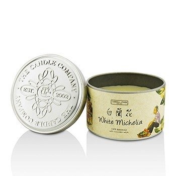Tin Can 100% Beeswax Candle with Wooden Wick - White Michelia (8x5) cm