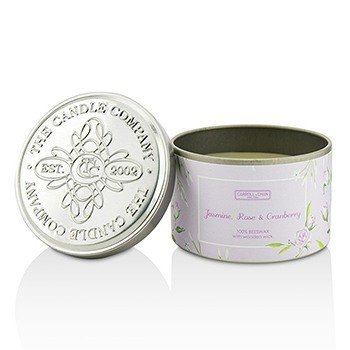 Tin Can 100% Beeswax Candle with Wooden Wick - Jasmine, Rose & Cranberry  (8x5) cm