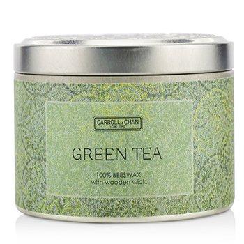 錫罐100%蜂蠟木芯蠟燭 - Green Tea (8x5) cm