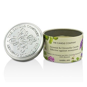 Tin Can 100% Beeswax Candle with Wooden Wick - Geraniol & Citronella (8x5) cm