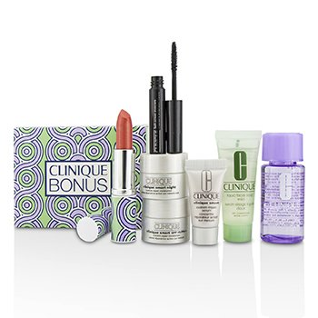 Bonus Travel Set: M/U Remover + Facial Soap + Repair Serum + 2x Moisturizer + Mascara + Lip Color  7pcs