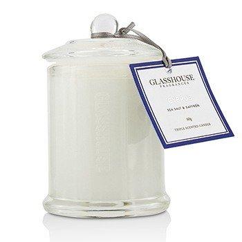 شمع معطر ثلاثي - Cyprus (أملاح البحر والزعفران)  60g