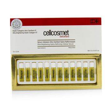 Cellcosmet Ultra Brightening Elasto-Collagen-XT (Ultra Brightening Hydra-Refirming Cellular Serum)  12x1.5ml/0.05oz