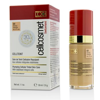 Cellcosmet CellTeint Plumping Cellular Tinted Skincare - #02 Rosy Beige  30ml/1.1oz