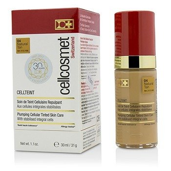 Cellcosmet CellTeint Plumping Cellular Tinted Skincare - #04 Natural Tan  30ml/1.1oz