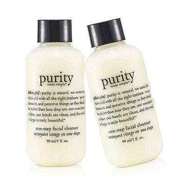 Philosophy Purity Made Simple - One Step Facial Cleanser Duo Pack  2x90ml/3oz