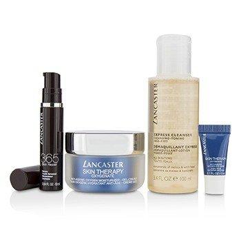 Skin Therapy Oxygenate Set: Moisturizer Gel-Cream 50ml+ Serum Youth Renewal 10ml+ Eye Care 3ml+ Express Cleanser 100ml  4pcs