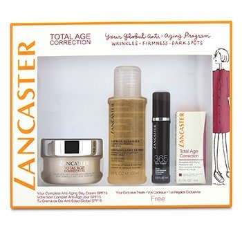 Total Age Correction Set: Anti-Aging Day Cream 50ml+ Serum Youth Renewal 10ml+ Retinol-In-Oil 3ml+ Express Cleanser 100ml 4pcs