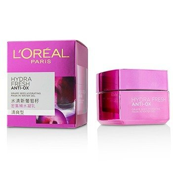 L'Oreal Hydrafresh Anti-Ox Grape Seed Hydrating Mask-In Water Gel  50ml/1.7oz