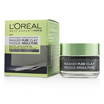 L'Oreal Skin Expert Pure Clay Mask - Detoxifies & Clarifies  50ml/1.7oz