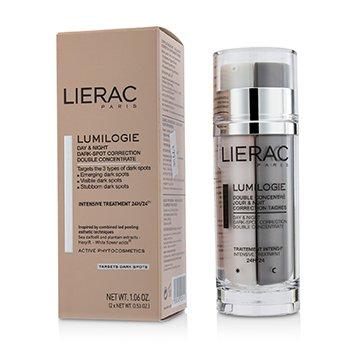 Lierac شكل مركز ليلي ونهاري مزدوج مصحح للبقع السوداء Lumilogie  2x15ml/0.53oz