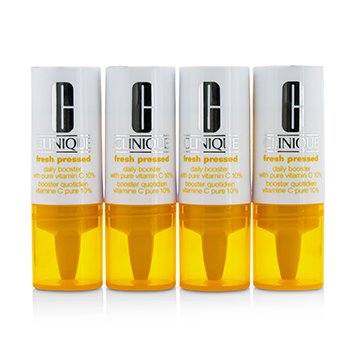 Fresh Pressed Daily Booster with Pure Vitamin C 10% - All Skin Types  4x8.5ml/0.29oz