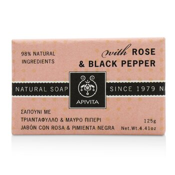 Natural Soap With Rose & Black Pepper  125g/4.41oz