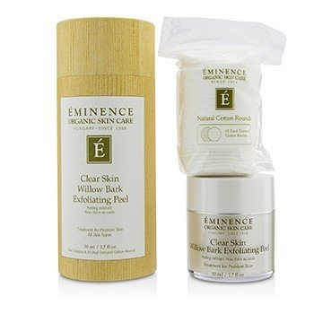 Clear Skin Willow Bark Exfoliating Peel (with 35 Dual-Textured Cotton Rounds)  50ml/1.7oz