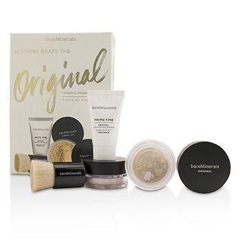 BareMinerals Get Started Mineral Foundation Kit - # 07 Golden Ivory  4pcs