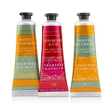 Festive Winter Hand Trio (1x Frosted Spicewood, 1x White Cardamom, 1x Red Berry & Fir)  3x25ml/0.86oz
