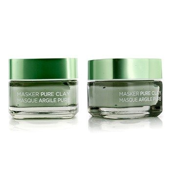L'Oreal Skin Expert Pure Clay Mask Duo Pack -  Purify & Mattify  2x50ml/1.7oz