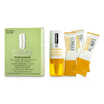 Fresh Pressed 7-Day System with Pure Vitamin C (1x Daily Booster 8.5ml + 7x Renewing Powder Cleanser 0.5g)  -