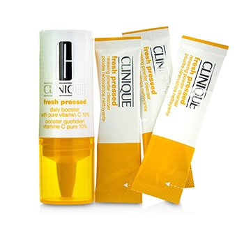 Clinique Fresh Pressed 7-Day System with Pure Vitamin C (1x Impulsador Diario 8.5ml + 7x Limpiador en Polvo Renovador 0.5g)  -