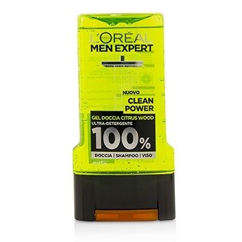 Men Expert Shower Gel - Clean Power (For Body, Face & Hair)  300ml/10.1oz