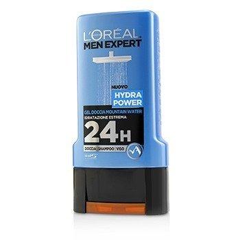 Men Expert Shower Gel - Hydra Power (For Body, Face & Hair)  300ml/10.1oz