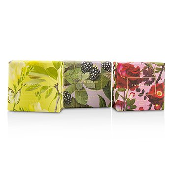 Soap Coffret : English Pear & Fressia / Blackberry & Bay / Red Roses  3x100g/3.5oz