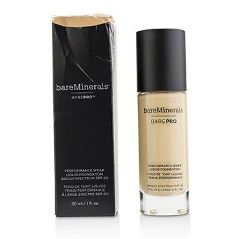 ベアミネラル BarePro Performance Wear Liquid Foundation SPF20 - # 12 Warm Natural (Box Slightly Damaged)  30ml/1oz