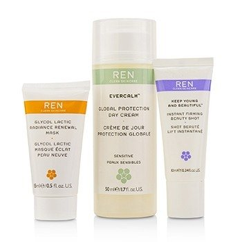 All Is Calm All Is Bright Set: Mask 15ml + Firming Serum 10ml + Day Cream 50ml  3pcs