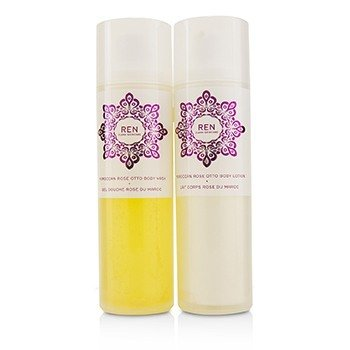 Rose To The World Moroccan Rose Otto Set: Body Wash 200ml + Body Lotion 200ml  2pcs