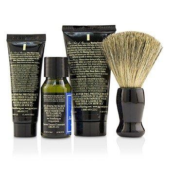 Starter Kit - Lavender: Pre Shave Oil + Shaving Cream + After Shave Balm + Brush + Bag  4pcs + 1 Bag