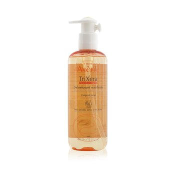 TriXera Nutrition Nutri-Fluid Face & Body Cleanser - For Dry to Very Dry Sensitive Skin  400ml/13.5oz