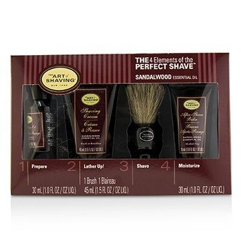 The 4 Elements of the Perfect Shave Mid-Size Kit - Sandalwood  4pcs