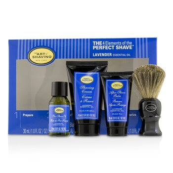 Zestaw do golenia The 4 Elements of the Perfect Shave Mid-Size Kit - Lavender  4pcs