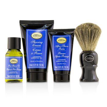 The 4 Elements of the Perfect Shave Mid-Size Kit - Lavender  4pcs