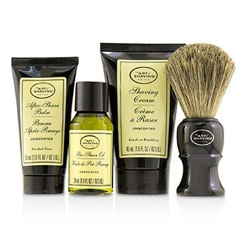 The 4 Elements of the Perfect Shave Mid-Size Kit - Unscented  4pcs