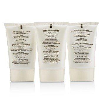 Skin Barrier Repair Kit: Milky Lotion Cleanser 30ml+ Medical Barrier Cream 30ml+ Ultra Shield Lotion SPF 50 30ml  3pcs