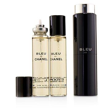 534d92eea24 Chanel - Bleu De Chanel Eau De Parfum Refillable Travel Spray 3x20ml ...