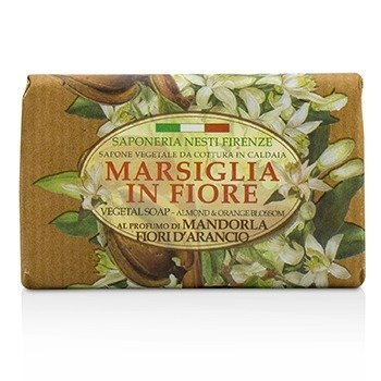 Marsiglia In Fiore Vegetal Soap - Almond & Orange Bloosom  125g/4.3oz