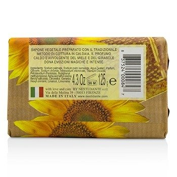 Marsiglia In Fiore Vegetal Soap - Honey & Sunflower  125g/4.3oz