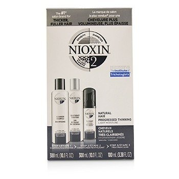 Nioxin 3D Care System Kit 2 - For Natural Hair, Progressed Thinning, Light Moisture  3pcs