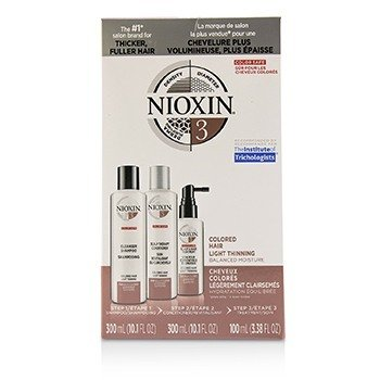 Nioxin 3D Care System Kit 3 - For Colored Hair, Light Thinning, Balanced Moisture  3pcs