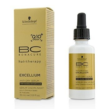 Schwarzkopf BC Excellium Q10+ Omega 3 Anti-Dry Serum (For Coarse Mature Hair)  30ml/1.01oz