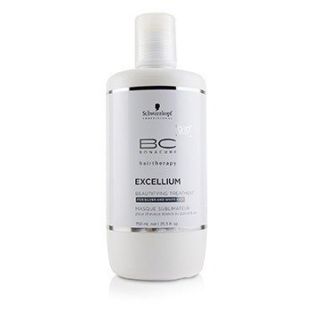 Schwarzkopf BC Excellium Q10+ Pearl Beautifying Treatment - For Silver and White Hair (Exp. Date: 10/2018)  750ml/25.5oz