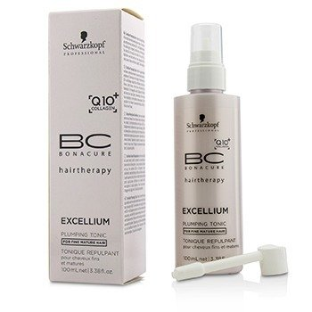 Schwarzkopf BC Excellium Q10+ Collagen Plumping Tonic (For Fine Mature Hair)  100ml/3.38oz