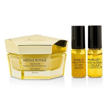 Abeille Royale Day Cream Set: Day Cream  50ml/1.6oz + Daily Repair Serum 5ml/0.16oz + Abeille Royale Face Treatment Oil 5ml  3pcs