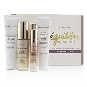 Balance To-Go Started Kit (Normal to Combination Skin): Clay Chameleon+Skinlongevity+Brilliant Future+Smart Combination  4pcs