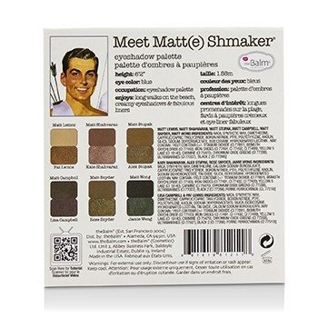 Meet Matt(e) Shmaker Eyeshadow Palette  9.6g/0.34oz