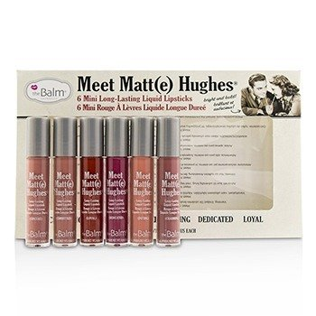 Meet Matt(e) Hughes 6 Mini Long Lasting Liquid Lipsticks Kit 6x1.2ml/0.04oz
