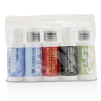 Value Travel Kit: Facial Cleanser 60ml + Shave Lather 60ml + Shampoo 60ml + Body Scrub 60ml + Body Moisturizer 60ml 5pcs+1 Bag