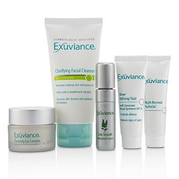 Essentials Kit (Oily/ Acne Prone): Facial Cleanser + Eye Complex + Sheer Refining Fluid + HydraGel + Antioxiant Serum  5pcs
